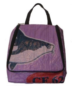 Recycled Fish Feed Toiletries/Shower Bag Handmade in Cambodia